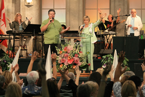 John and Carol Arnott ministering at the church in Toronto.
